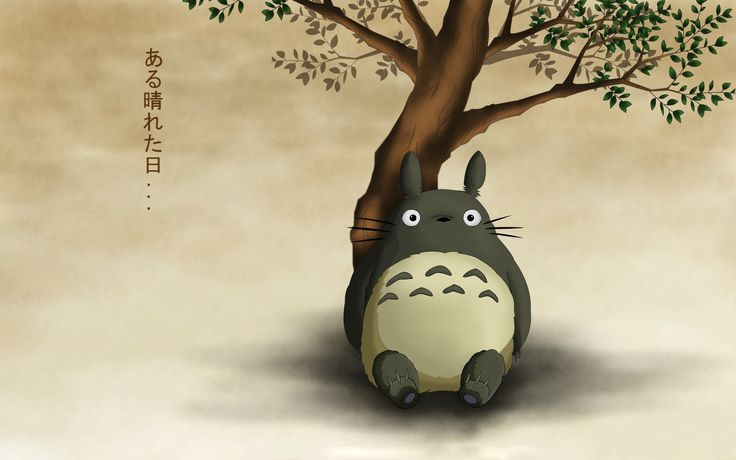 Image, Tonari no Totoro, Mon voisin Totoro, assis, 1920x1200