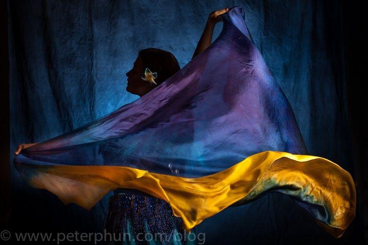 Amanda in veils