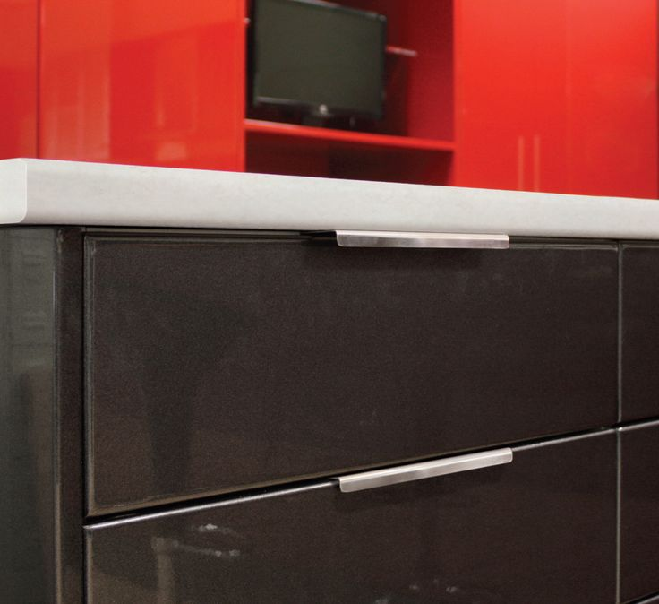 Get the look: Use our discreet look kitchen handles for a sleek, modern kitchen finish... +kaboodle kitchen