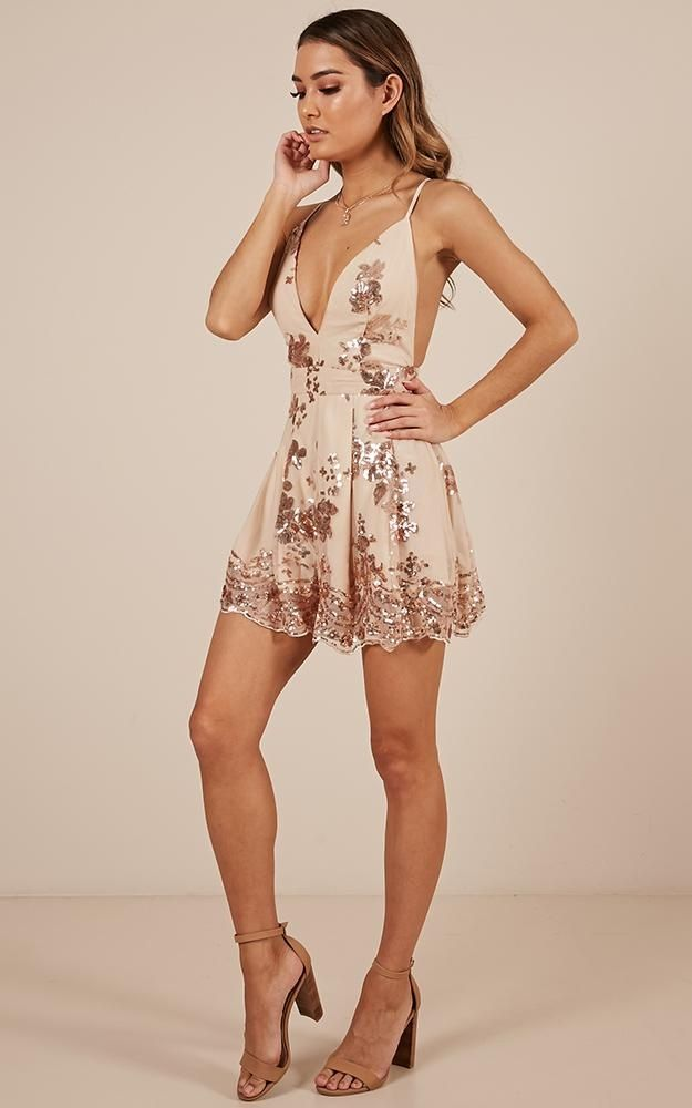 2c9f9aa8569f Boys Lining Up Playsuit In Rose Gold Sequin Produced in 2019 ...