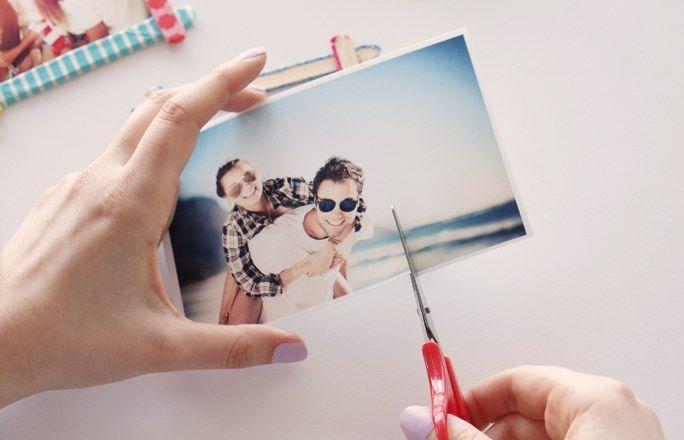 Bilderrahmen selber machen: Foto zuschneiden