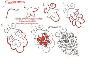 How to draw Paisley Leaf 03 by *Quaddles-Roost on deviantART -. Would be good for cake decorating too