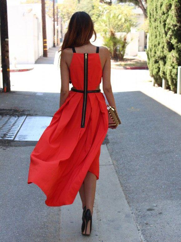 Fashion Fix: rode zomerjurk