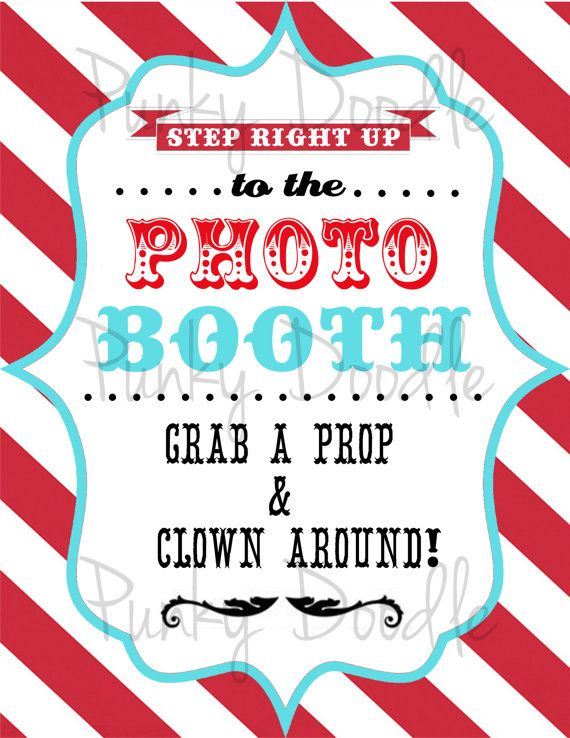 Carnival Party Sign - Circus Party Sign - Circus Photo Booth Sign - Carnival Photo Booth Sign