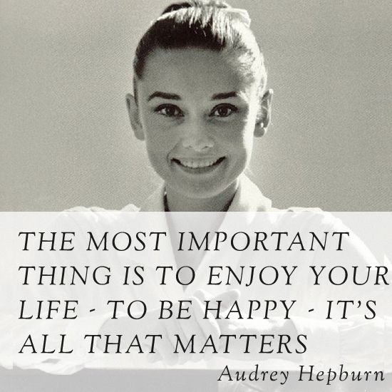 words of wisdom by Audrey Hepburn...via Elegant Nest