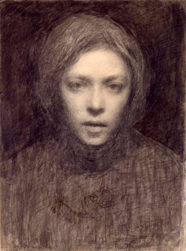 Self-portrait, Finland, 1894-95, by Ellen Thesleff.