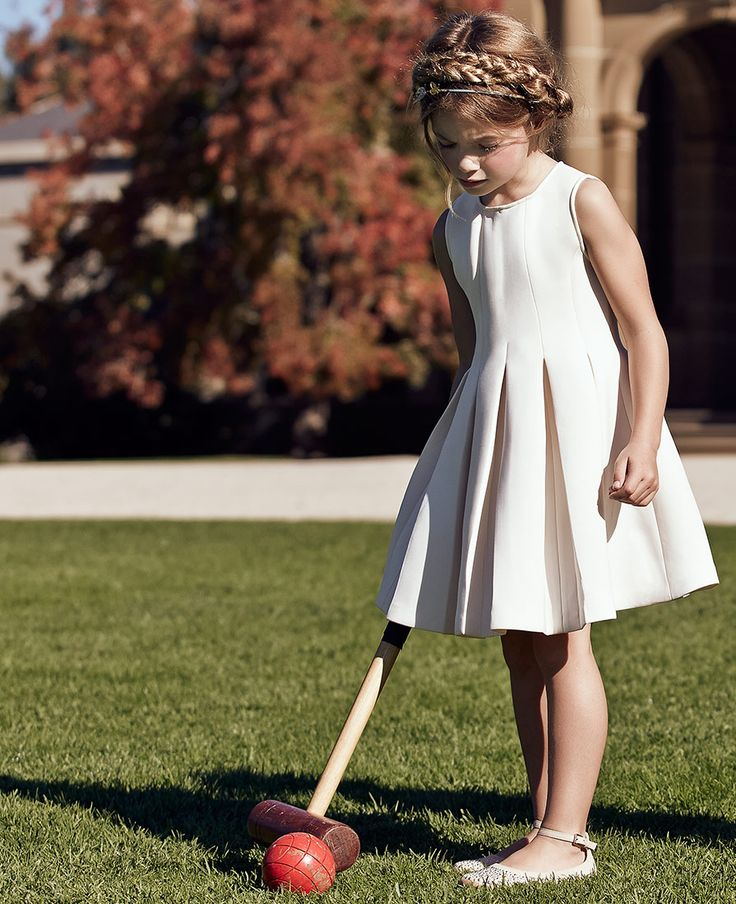 Litle Girl's Pleat Scuba Dress - PRE ORDER - Bardot Junior
