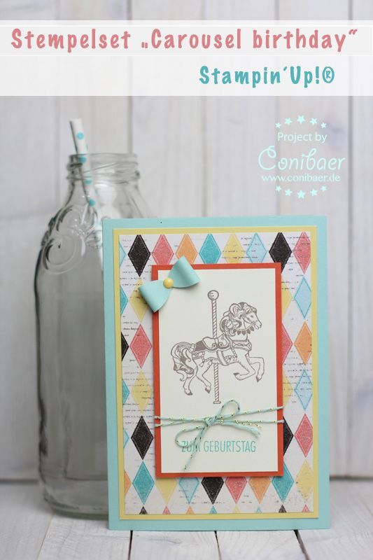 Stampin´Up!, Carousel birthday, Karussellpferd, Basteln, Stempeln, Jahrmarkt