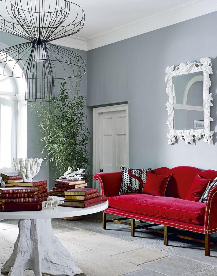 die besten 25+ roter sofa dekor ideen auf pinterest | rote