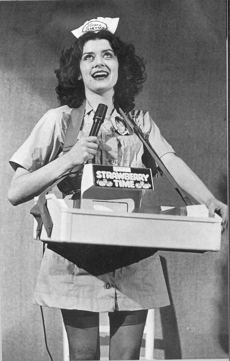 """Patricia Quinn performing the """"traditional"""" Trixie in The Rocky Horror Show."""