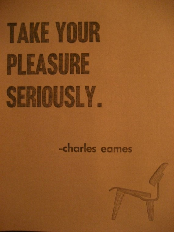 one of these days, I will have Eames chairs...