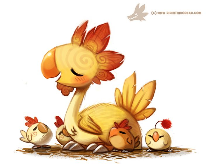 Daily Paint #1002. Kentucky Fried Chocobo by Cryptid-Creations on DeviantArt