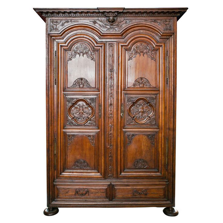Exceptional Period Louis XIII to Louis IV Transitional Chateau Armoire | From a unique collection of antique and modern wardrobes and armoires at https://www.1stdibs.com/furniture/storage-case-pieces/wardrobes-armoires/