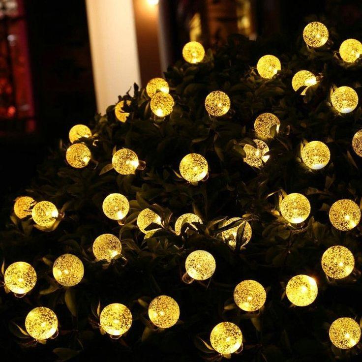 LEDイルミネーションライト LEDストリングライト ソーラーライト 気泡型照明 防水 パーティー 祝日飾り