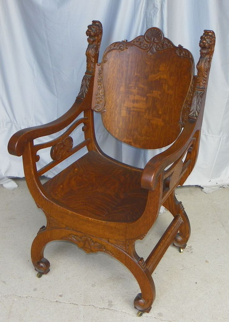 vintage recliner chair antique chairs with lions heads furniture gt early 1900 s 3252