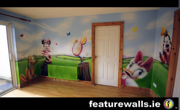 Disney club house airbrushed mural murals 2013 for Airbrushed mural