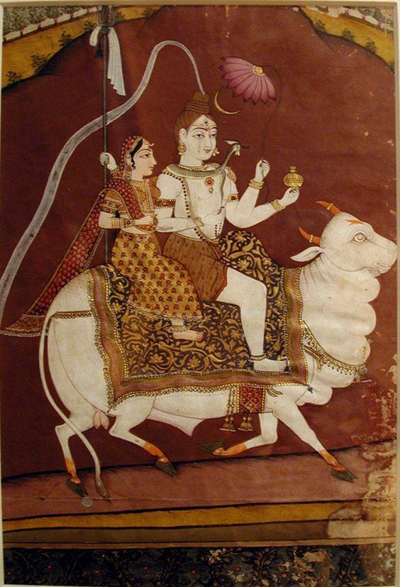 K. S. Prakash Shiva. Shiva and Parvati on Nandi. Creation Date: ca. 1780. Edwin Binney 3rd Collection, The San Diego Museum of Art