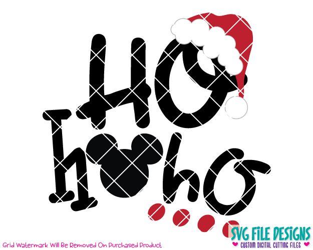 Ho Ho Ho Mickey Mouse SVG Cut File Set
