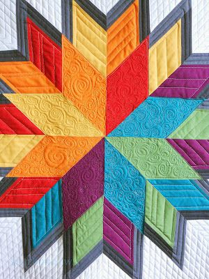 This is simply stunning. (from Blue Bird Sews): Quilts Patterns, Birds Sewing, Stars Quilts, Straight Line Quilts, Stars Dahlias, Flowers Quilts, Blue Birds, Quilts Ideas, Lonely Stars