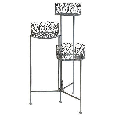 Good  Tier Metal Foldable Plant Stand Flower Shelf D on