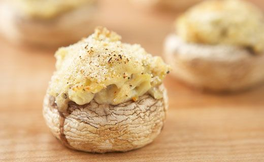 Champignons farcis au crabe et à l'artichaut d'Épicure