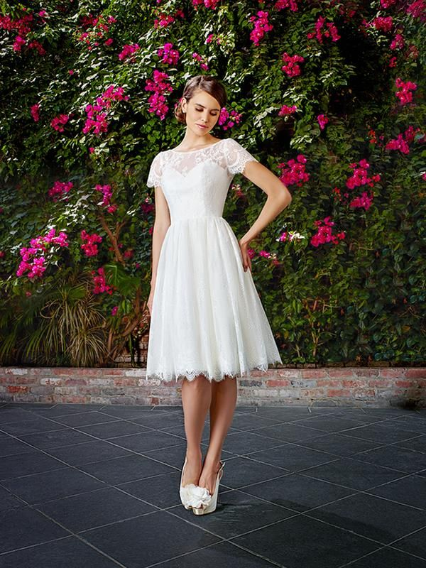 Short Wedding Dress By Moonlight Tango Style T761 Cute Retro Reception