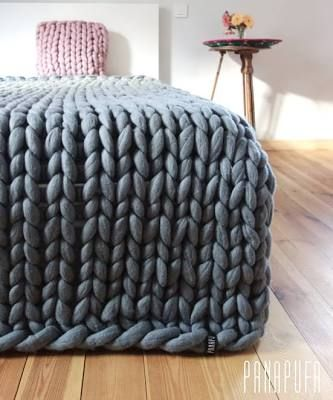 Super chunky kingsize blanket ...