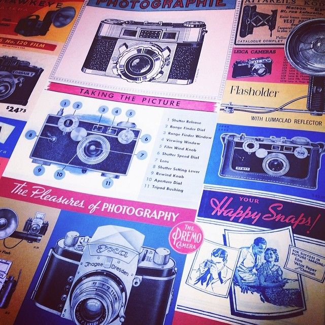Brand new vintage inspired gift wrap! #camera #photography #cavallini