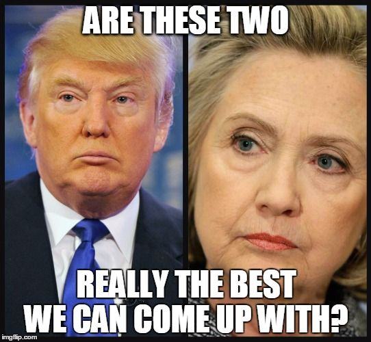 And dont give me the bs about Jesus ordained Trump to stop Clinton because he is just as big a horse's ass as she is! SO tired of hearing that crap on social media. Either way America is screwed come November!