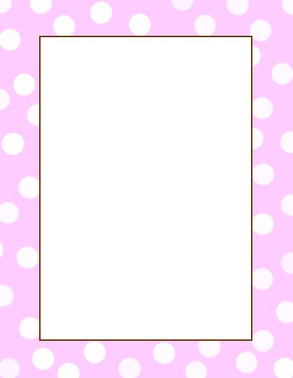 Baby Page Border Blank Template Save To Your Computer