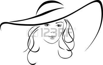 Silueta de mujer hermosa en un sombrero elegante photo