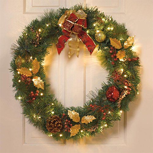 18 best Battery Operated Christmas Wreaths images on Pinterest ...