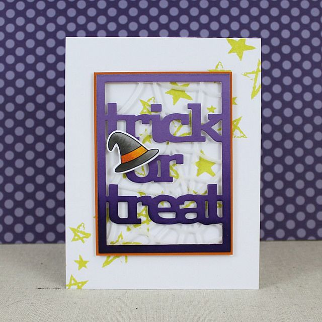 Trick Or Treat Card by Lizzie Jones for Papertrey Ink (August 2016)