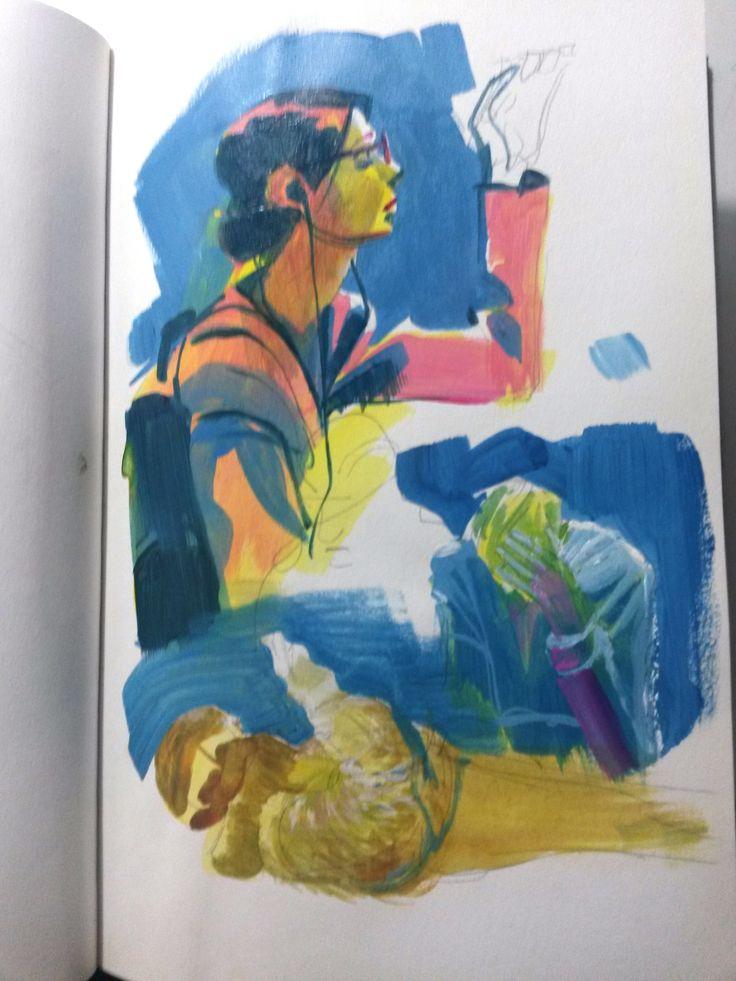 Sketchbook - Subway - People - Welton Santos