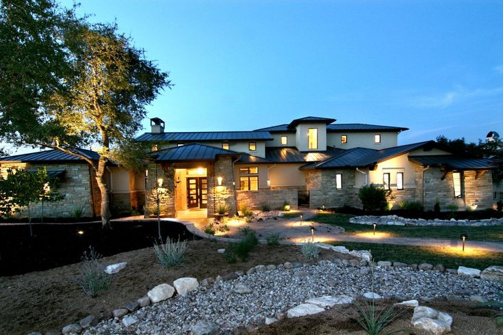 59 best images about exterior makeover on pinterest Hill country contemporary house plans