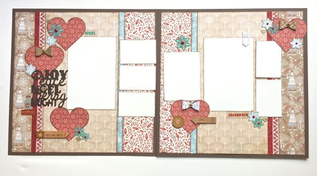 Karen Pedersen: December Play Group Scrappin' Class Layouts (White Pines)