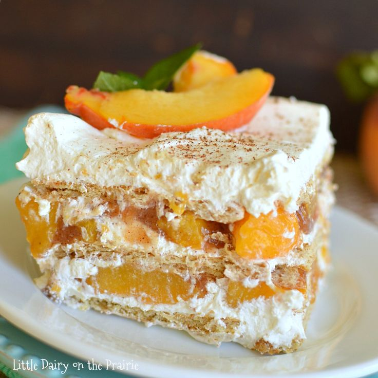 Check out No Bake Peach Icebox Cake. It's so easy to make! | Graham ...