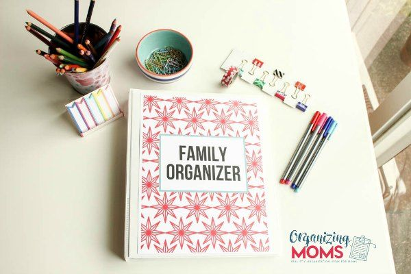 How to make a Family Organizer. Includes a video tour of a family organizer and tips for making your own!