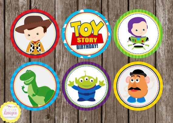 PRINTABLE Toy Story Inspired Cupcake by HilltopCustomDesigns