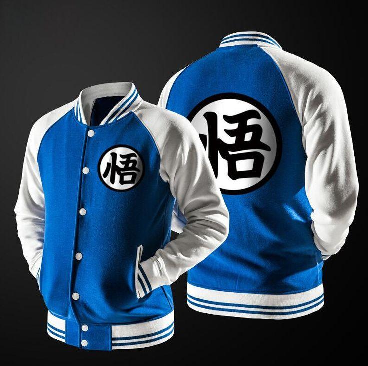 Anime Dragon Ball Hoodie Cosplay Jacket Coat College Casual Sweatshirt