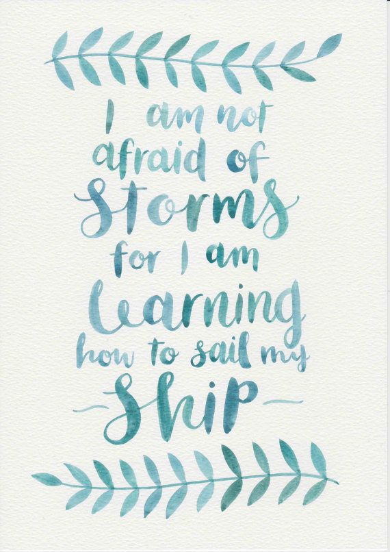 Louisa May Alcott Quote Original Watercolor by FeatherAndSixpence