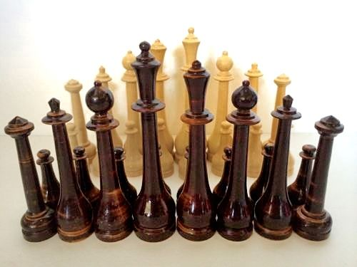 Vintage chess set.