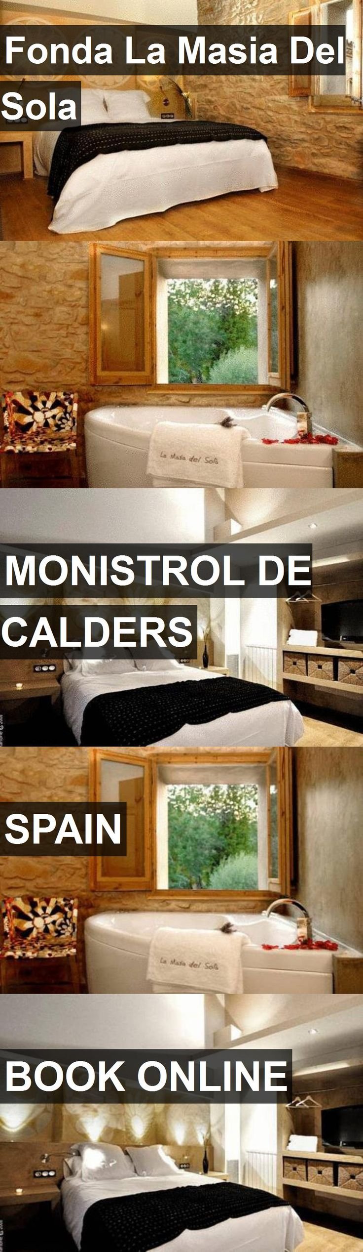 Hotel Fonda La Masia Del Sola in Monistrol de Calders, Spain. For more information, photos, reviews and best prices please follow the link. #Spain #MonistroldeCalders #travel #vacation #hotel