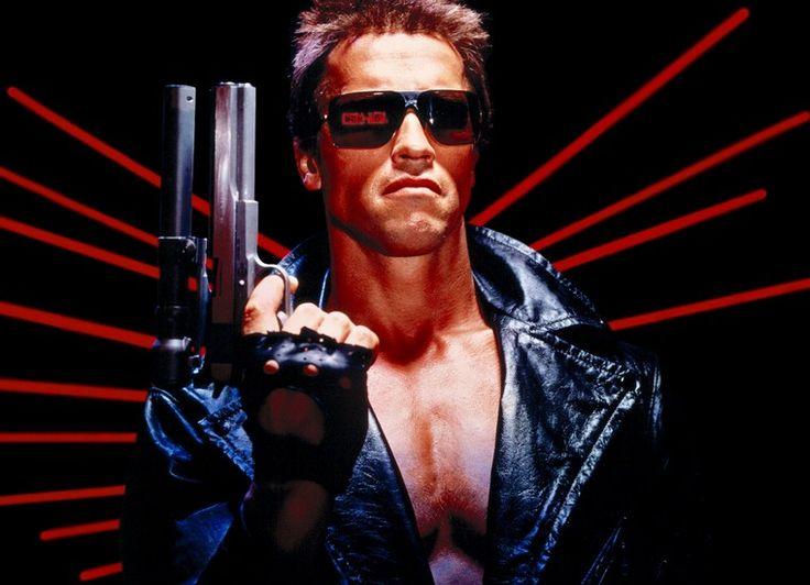 80er-Mottoparty-Outfit-Lederjacke-Sonnenbrillen-Terminator-Film
