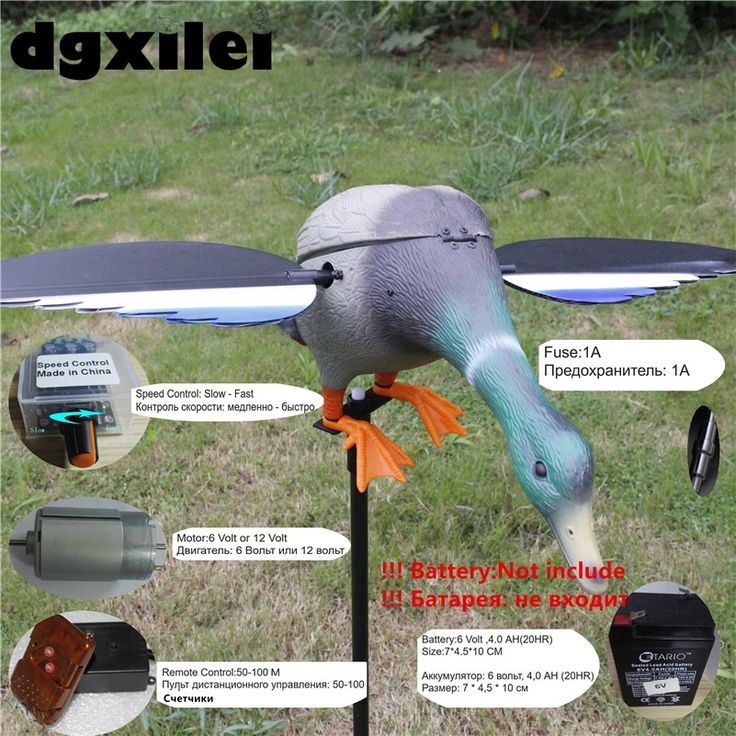 69.66$  Watch here - http://ali3vh.shopchina.info/go.php?t=32808850351 - Wholesale & Retail Mallard Duck 6V 12V Remote Control Hunting Duck Decoy Hunt Duck Hunting Goods With Magnet Spinning Wings  #aliexpress