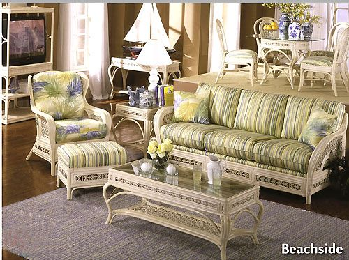 17 best images about white rattan and wicker indoor living for Beach craft rattan furniture