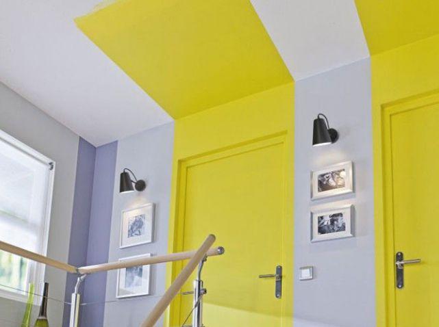 10 id es propos de peinture du plafond sur pinterest - Plafond peint en couleur ...