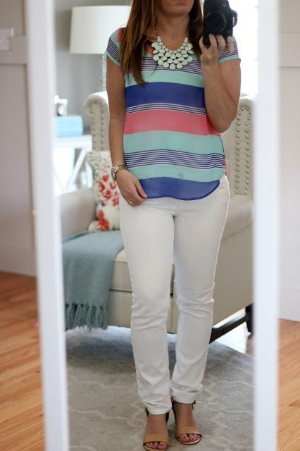 Stitch Fix Review (April 2016) - My most interesting fix yet! Help me decide what to keep! Papermoon Wiliam Blouse Colorful Striped Spring Summer Top #stitchfix #stitchfixreview - white shirt blouse, white ruffle blouse, white wrap over blouse *sponsored https://www.pinterest.com/blouses_blouse/ https://www.pinterest.com/explore/blouses/ https://www.pinterest.com/blouses_blouse/sleeveless-blouse/ http://www.tbdress.com/Cheap-Blouses-100594/