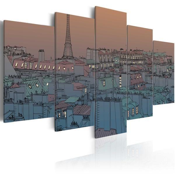 Quadro - Parigi: calano le tenebre. Prezzo a partre da €74,99 cm100x50 e spedizione gratuita. Risparmia 16€ #quadriretro #quadrivintage #ilydecor #quadriparigi