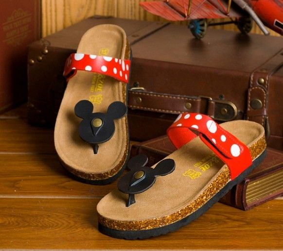 Slippers male beach slippers cartoon fashion MICKEY MOUSE style cork slippers $19.45